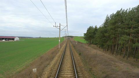 Railroad track in 4K Footage
