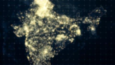 India Map Night Lighting Rollback Footage