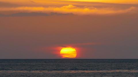 Beautiful landscape with sea sunset, timelapse Footage