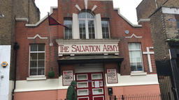 The Salvation Army Notting Hill Gate London UK Footage
