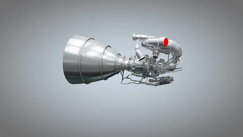 Artist concept rendering rocket engine model Animation