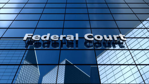 Federal court building, cloud time lapse Animation