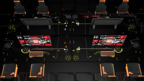 Network control room, sci-fi concept Animation