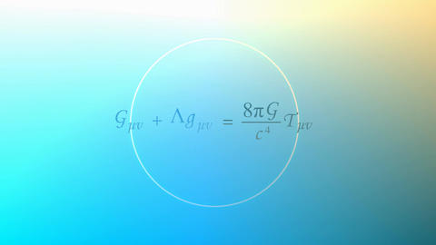 Mathematical equation background, General relativity equation Animation