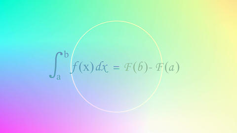 Mathematical equation background, Calculus equation Animation