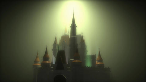 Fantasy magical castle Animation