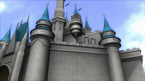Fantasy magical castle Animation