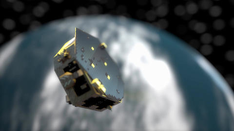 Artist rendering, LISA pathfinder mission Animation