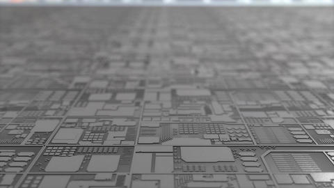 Artist concept rendering close up silicon chip production 画像