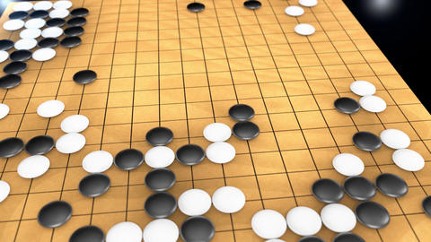 Traditional strategy board game, Go Stock Video Footage