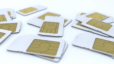 Mobile telecommunication sim card Animation