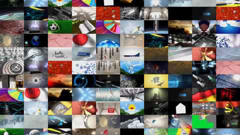 Collage of video clips Animation