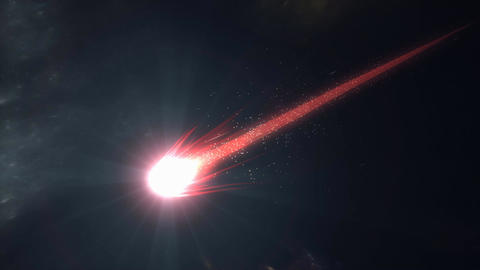 Bright red comet animation Animation