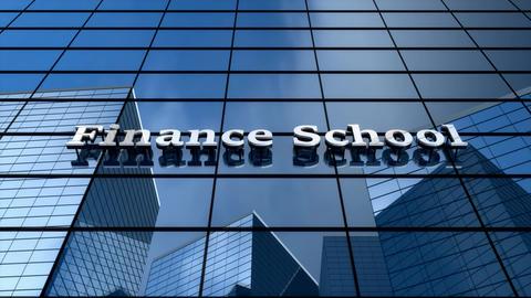 Finance school building Animation
