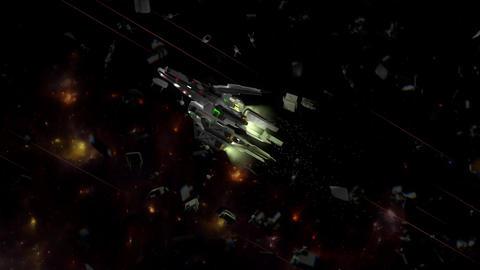 Space ship, sci-fi concept spacecraft Animation