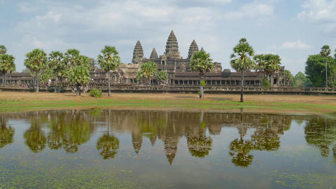 Angkor Wat temple in Siem Reap, Cambodia Footage