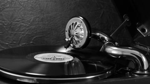Listening To Old Records On The Gramophone 5 Footage