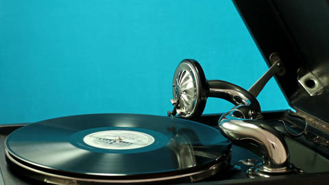 Listening To Old Records On The Gramophone 1 Footage