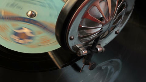 Listening To Old Records On The Gramophone 4 Footage