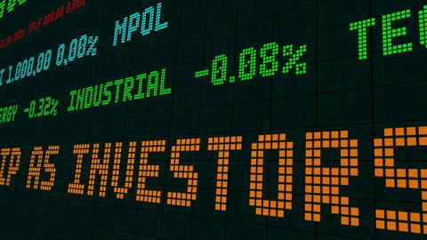 Stock market ticker stocks investors focus on earnings Footage