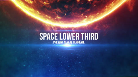 Space Light Lower Third 4 (5 pack) After Effects Template