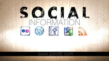 Social Information After Effects Templates