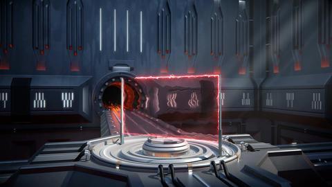 Sci-fi portal video transition Animation