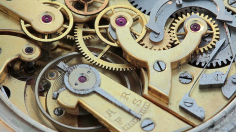 Pocket Watch Movement Chronometer Footage