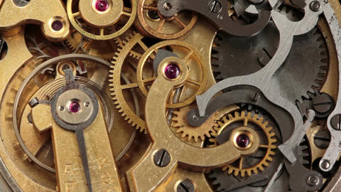 Pocket Watch Movement Chronometer 1 Footage