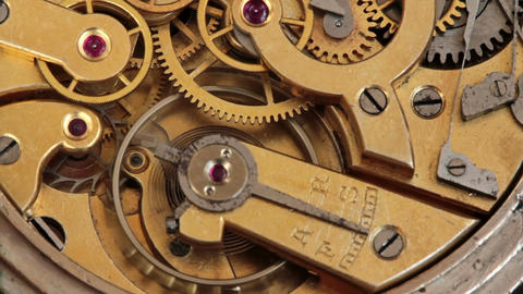 Pocket Watch Movement Chronometer 4 Footage