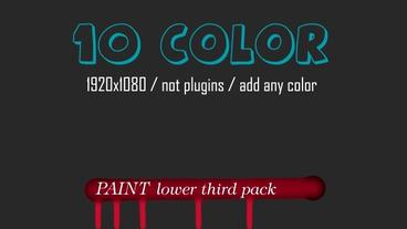 Paint Lower Third After Effects Templates