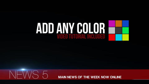 News lower third 15 After Effects Template