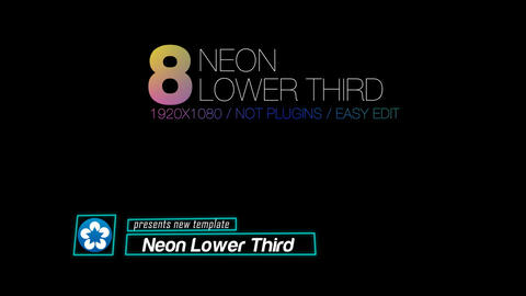 Neon Line Lower Third After Effects Template