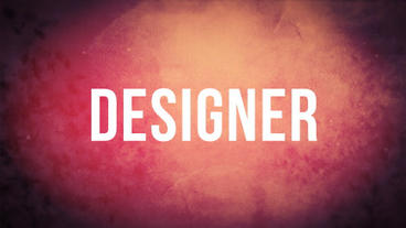 Motion Designer Intro Typographic After Effects Project