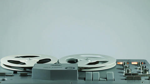 Playback And Rewind Reel To Reel Tape 13 Footage