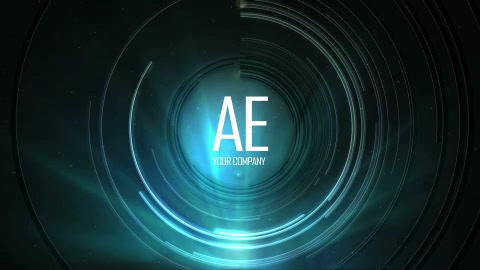 Elegant Lines Light Logo After Effects Template