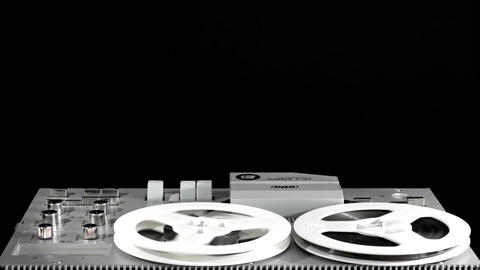 Rewind And Play The Tape On A Reel-To-Reel Tape Recorder 4 Footage