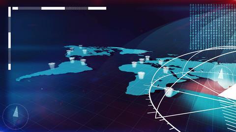 World Map Globalization Animation