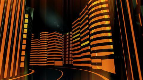 City Night Glow Stock Video Footage