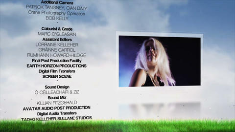 Film Credits After Effectsテンプレート