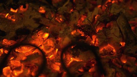 Video of embers in 4K Footage