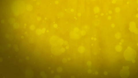 Golden yellow background with floating particles Animation