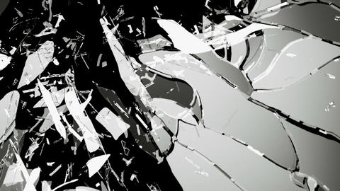 Glass crack and shatter with slow motion. Alpha Animation