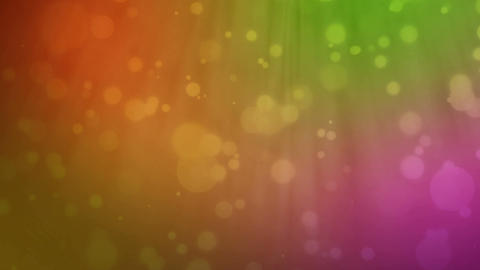 Multicolored background with floating particles Animation