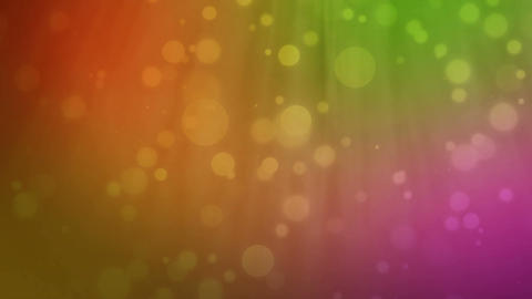 Multicolored background with floating particles Stock Video Footage