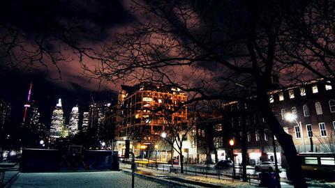 Winter City Street Timelapse Footage