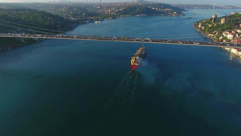 istanbul Bosphorus Vessel Traffic, Turkey Footage