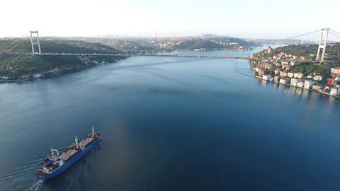 istanbul Bosphorus Aerial Footage, Turkey Footage