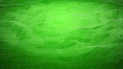 Green abstract polygonal background with shifting wireframe lines Animation