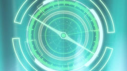 Compass shape graphic on cyan background Animation